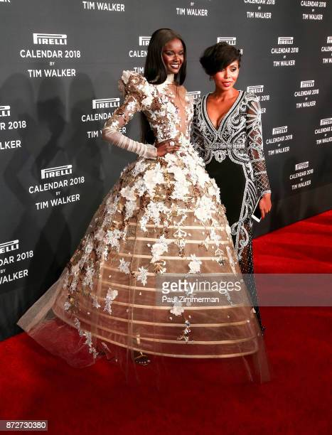 Duckie Thot and Jaha Dukureh attend Pirelli Calendar 2018 Launch Gala at The Manhattan Center on November 10 2017 in New York City