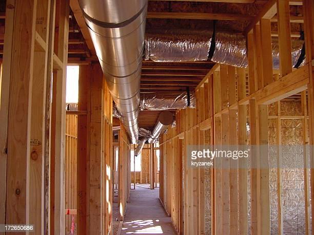 Ductwork in hallway