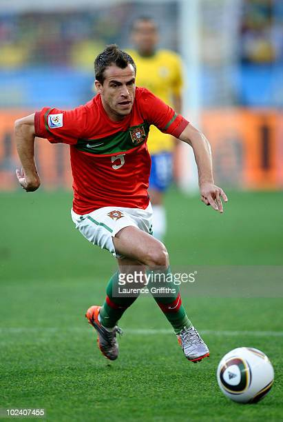 Duda of Portugal in action during the 2010 FIFA World Cup South Africa Group G match between Portugal and Brazil at Durban Stadium on June 25 2010 in...