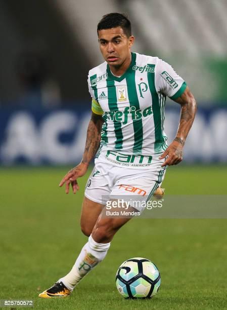 Dudu of Palmeiras controls the ball during a match between Botafogo and Palmeiras as part of Brasileirao Series A 2017 at Nilton Santos Stadium on...