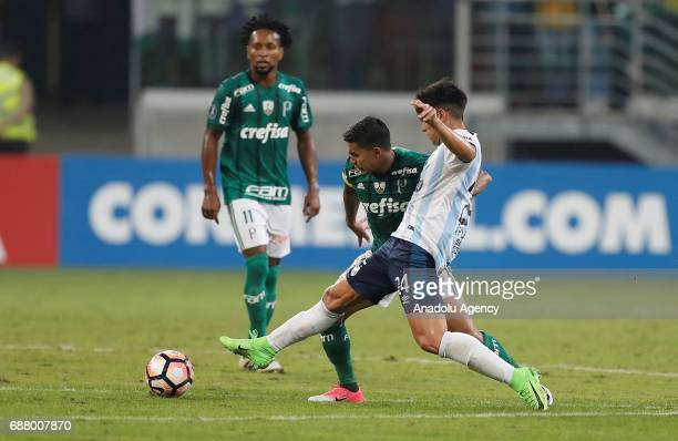 Dudu of Palmeiras in action during Copa Libertadores of America match between Palmeiras and Atletico Tucuman in Sao Paulo Brazil on May 24 2017