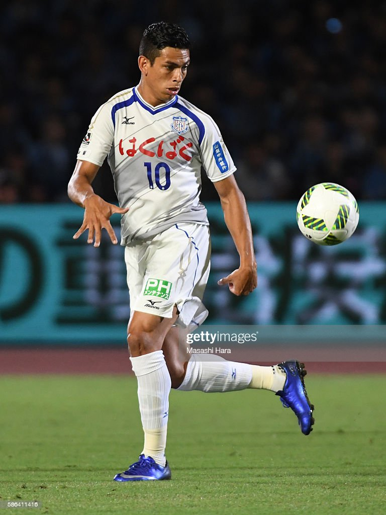 Dudu of Ventforet Kofu in action during the JLeague match between Kawasaki Frontale and Ventforet Kofu at the Todoroki Stadium on August 6 2016 in...