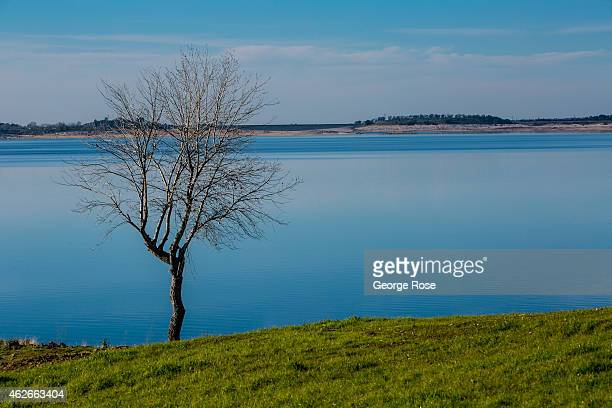 Due to a fourth year of drought water levels Folsom Lake continue to drop as viewed on January 28 2015 in Folsom California Located just east of...
