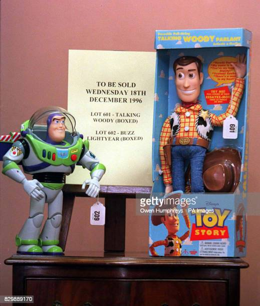 Due to a huge Christmas demand two characters from the movie Toy Story will be auctioned off as there are none left It is expected the figures will...