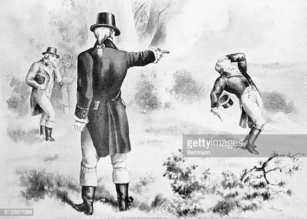 Duel between Alexander Hamilton and Aaron Burr Drawing