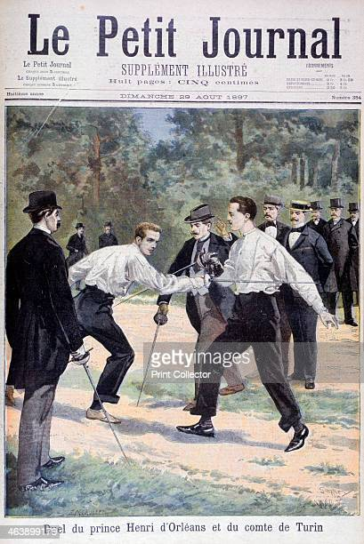 Duel between Prince Henri d'Orleans and the Comte de Turin 1897 An explorer and the son of Robert Duke of Chartres Henri d'Orleans fought this duel...