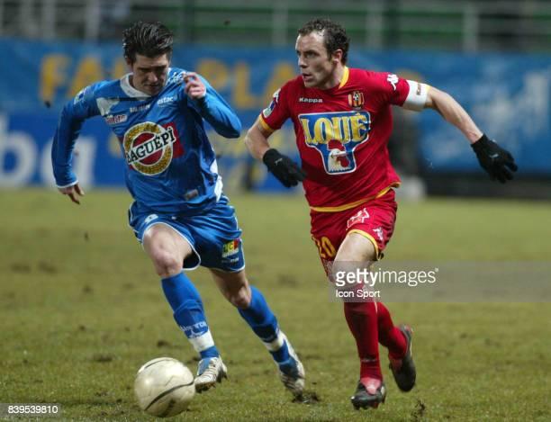 Duel Jean Luis MONTERO / Laurent BONNART Troyes / Le Mans 23eme journee de Ligue 1