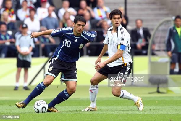 Duel Juan Roman RIQUELME / Michael BALLACK Allemagne / Argentine 1/4 Finale Coupe du Monde 2006