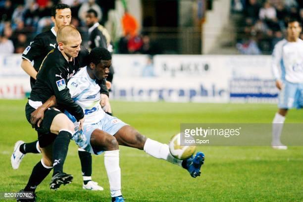 Duel Malaury MARTIN / Jacob MULENGA Strasbourg / Monaco 32eme journee de Ligue 1