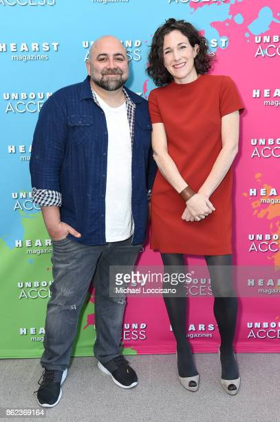 Duff Goldman and Editor in Chief of Food Network Magazine Maile Carpenter attend Hearst Magazines' Unbound Access MagFront at Hearst Tower on October...