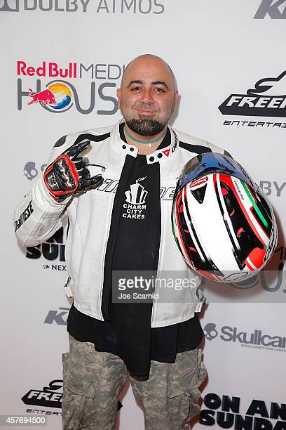 Duff Goldman arrives at 'On Any Sunday The Next Chapter' Los Angeles Premiere at Dolby Theatre on October 22 2014 in Hollywood California