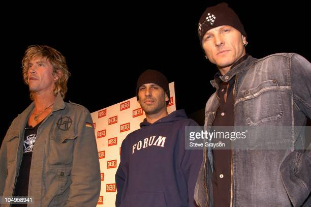 Duff McKagan and Dave Kushner Matt Sorum during Diesel Fall Winter 2003/04 Collection Preview Party at Miahaus in Los Angeles California United States