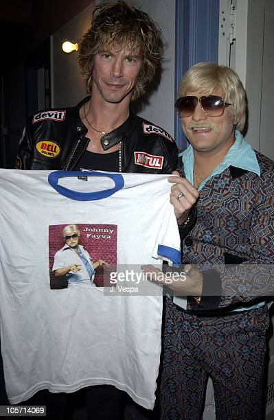 Duff McKagan and Johnny Fayva during Playstation 2 Presents The PS2 Tour Camp Freddy with Surprise Guests at Henry Fonda Theatre in Hollywood...