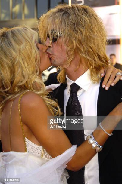 Duff McKagan and Susan Holmes during 32nd Annual American Music Awards Red Carpet at Shrine Auditorium in Los Angeles California