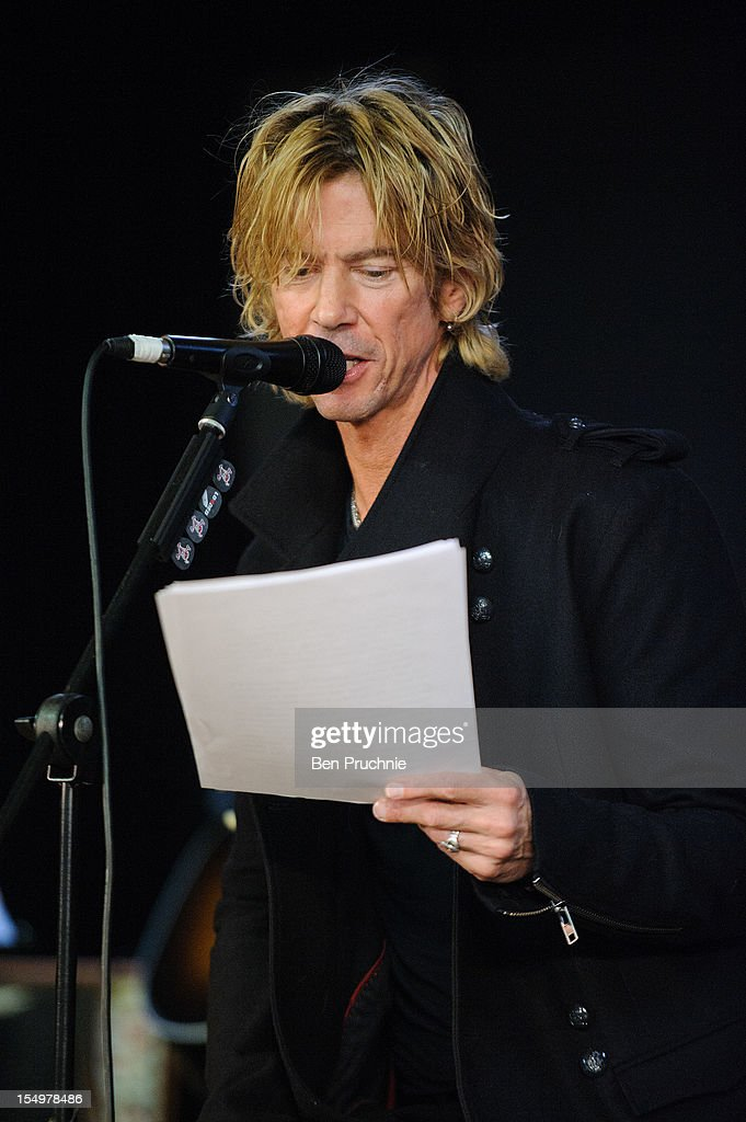 Duff McKagan performs after meeting wounded soldiers through the Help for Heroes charity on October 29, 2012 in London, England.