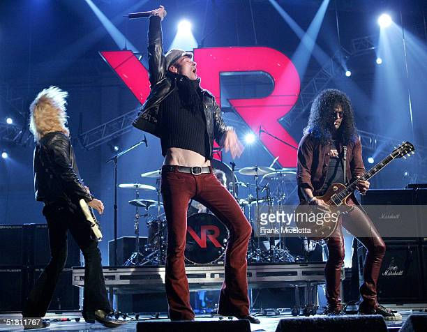 Duff McKagan Scott Weiland and Slash of Velvet Revolver perform during the second day of rehearsals at the VH1 Big in 04 at the Shrine Auditorium on...