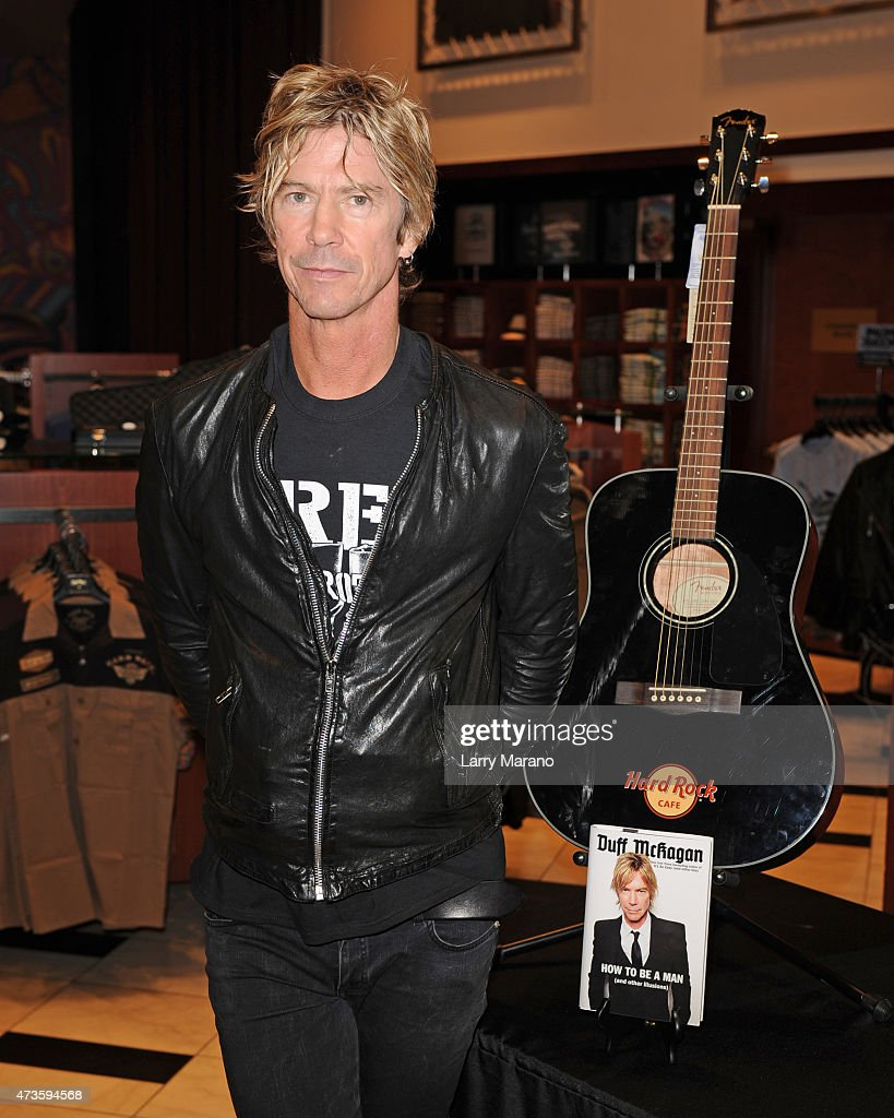 Duff McKagan signs copies of his book 'How to Be a Man (and other illusions) at Hard Rock Cafe held at the Seminole Hard Rock Hotel & Casino on May 15, 2015 in Hollywood, Florida.