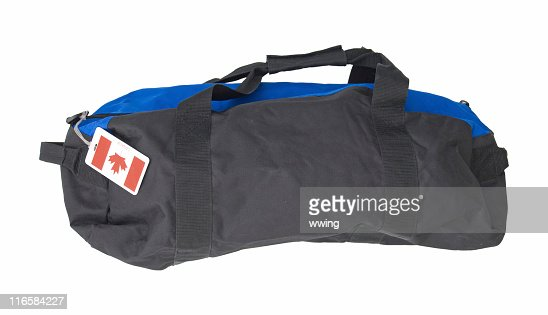 Duffel Bag With Clipping Path