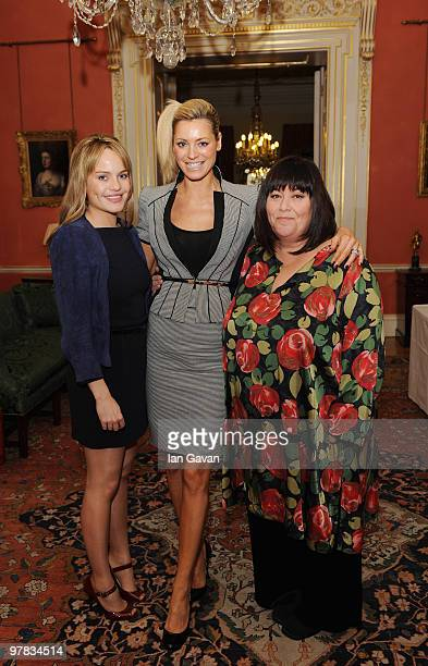 Duffy Tess Daly and Dawn French attend a reception with Gordon Brown In Aid Of Women's Day in 10 Downing Street on March 18 2010 in London England...