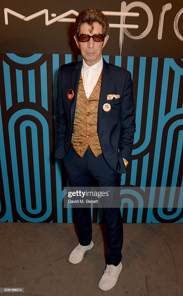 Duggie Fields attends as MAC host Pro to Pro Textile Party at London's Camden Roundhouse on April 29, 2016 in London, England.