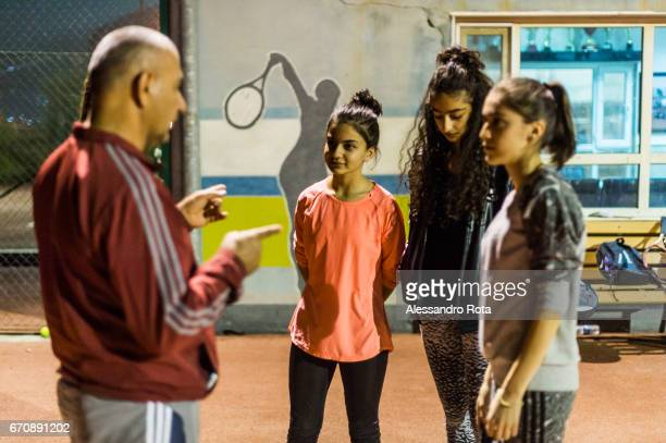 Duhok Tennis Club semiautonomous region of Kurdistan IRAQ 1st NOV 2016 About 30 female players regularly attend the tennis class which are held 4...