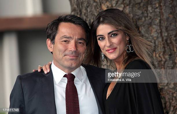 Duillio Giammaria and Elisa Isoardi attend RAI Television 2013 / 2014 Programming Presentation at RAI Dear Studios on June 25 2013 in Rome Italy
