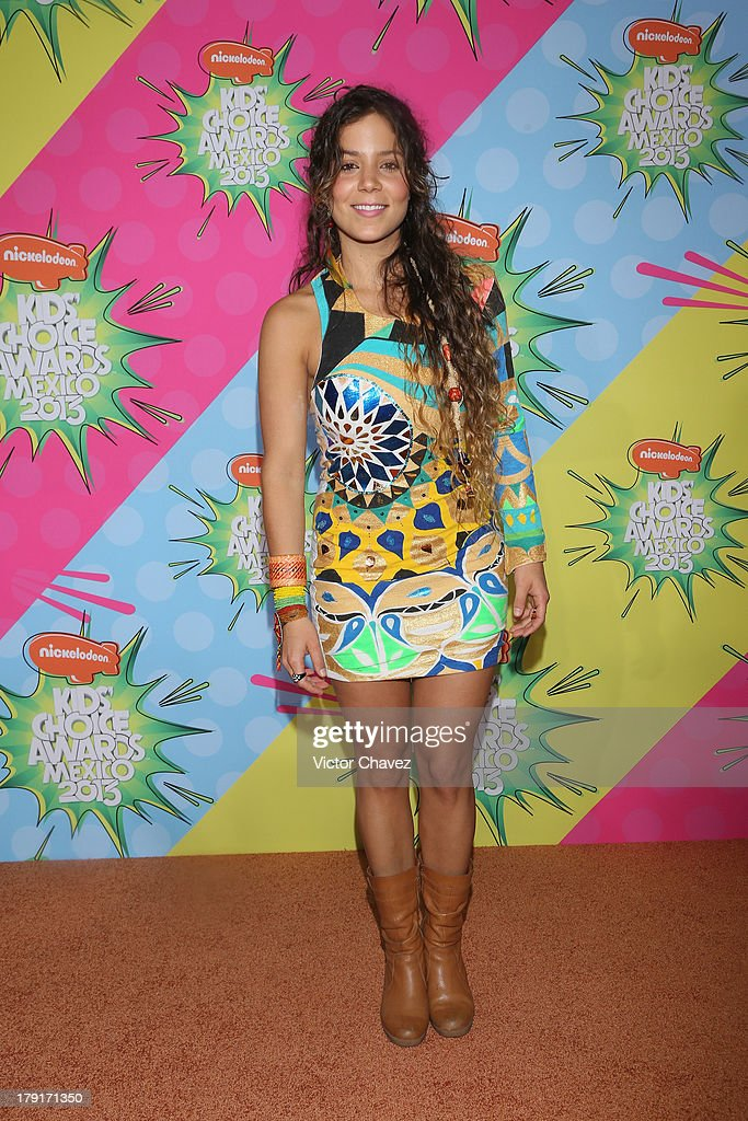 Duina del Mar arrives at Kids Choice Awards Mexico 2013 at Pepsi Center WTC on August 31, 2013 in Mexico City, Mexico.