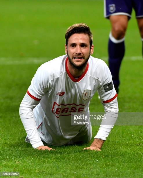 Duje Cop forward of Standard Liege disappointed after loosing the game during the Jupiler Pro League match between RSC Anderlecht and Standard Liège...