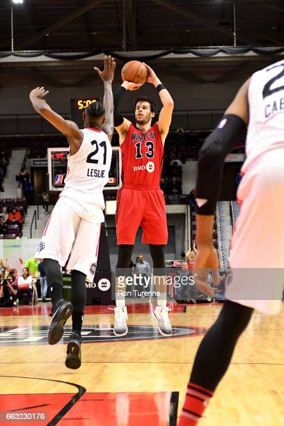 Duje Dukan of the Windy City Bulls shoots the ball against the Raptors 905 on March 30 2017 in Mississauga Ontario Canada NOTE TO USER User expressly...