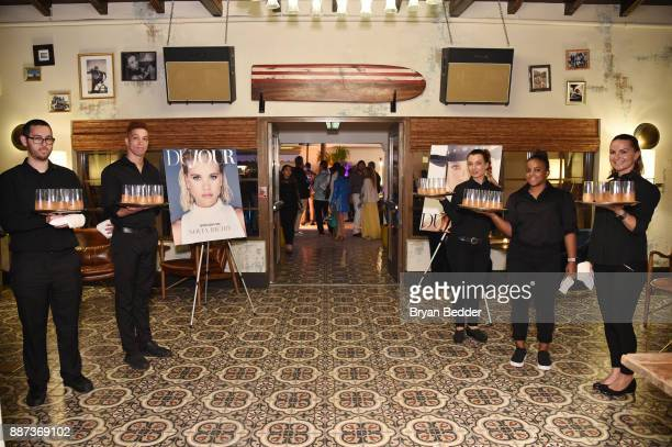 DuJour magazine covers on display at DuJour's Jason Binn And WellNEST Celebrate Miami Beach's Art Basel KickOff at The Confidante on December 6 2017...