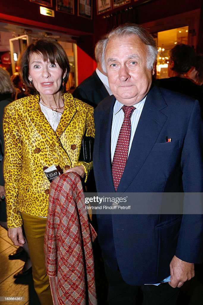 Duke and Duchess Helie de Noailles attending 'La Dame De La Mer' : Gala play to benefit Care Humanitarian Organization, held in Montparnasse Theater in Paris on October 8, 2013 in Paris, France.