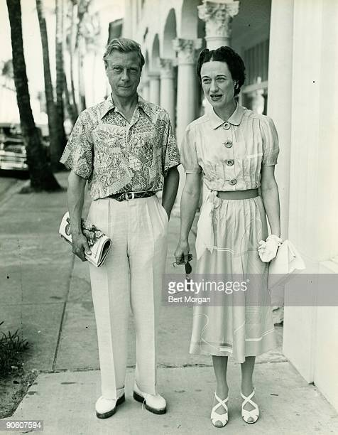 Duke and Duchess of Windsor on Worth Ave Palm Beach Florida in 1946 The Duchess is the former Wallis Simpson