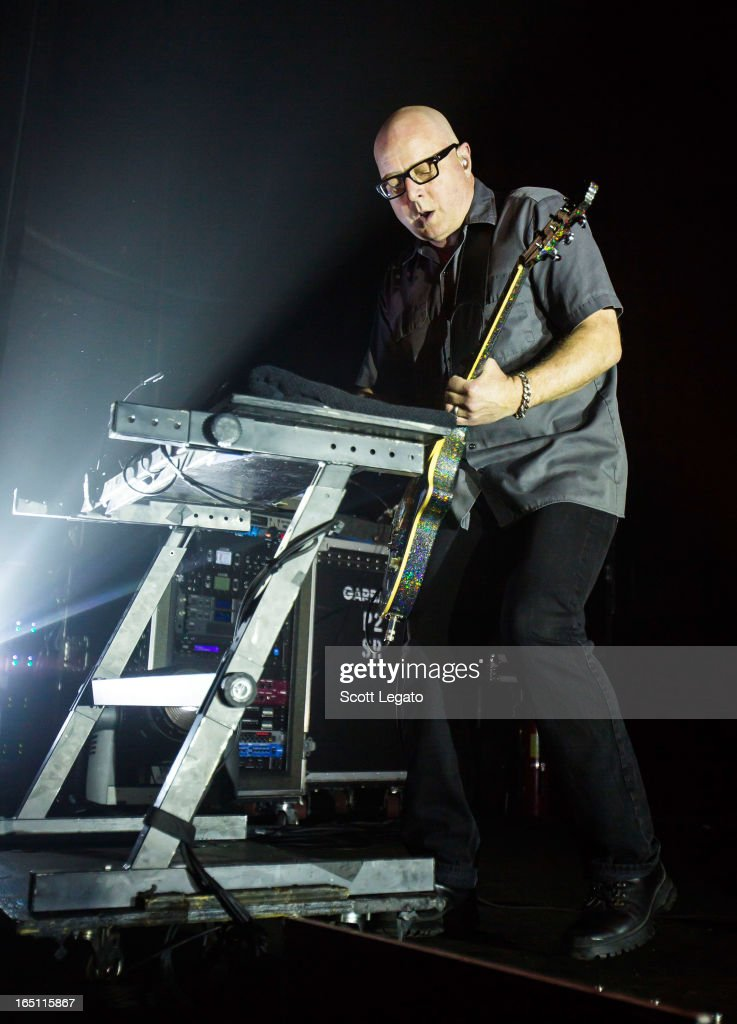 Duke Erikson of Garbage performs in concert at the Majestic Theater on March 30, 2013 in Detroit, Michigan.