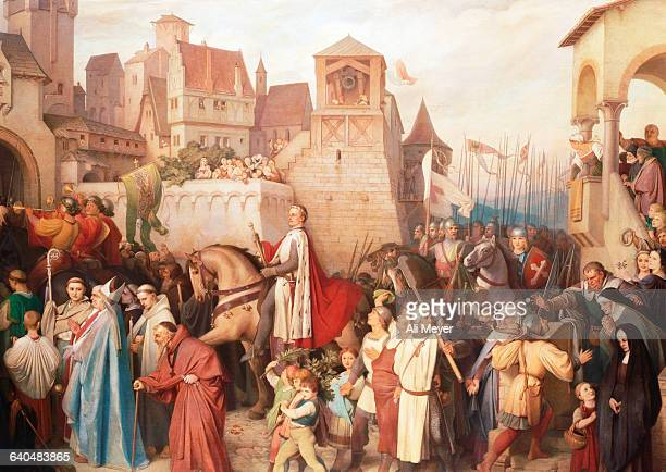 Duke Leopold the Glorious Enters Vienna on His Return from the Crusades by Josef Mathias von Trenkwald