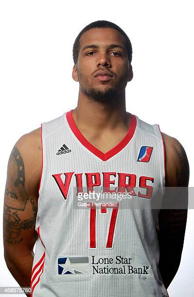 Duke Mondy of the Rio Grande Valley Vipers poses for a photos during media day on Nov 6 2014 State Farm Arena in Hidalgo Texas NOTE TO USER User...