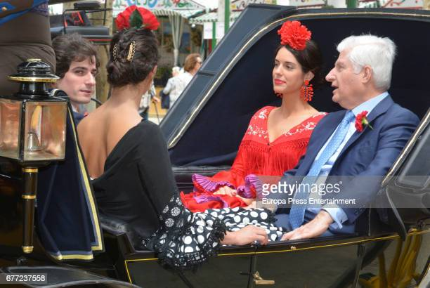 Duke of Alba Carlos Fitz James Stuart Sofia Palazuelo and Fernando Fitz James Stuart Solis attend 2017 April's Fair on April 30 2017 in Seville Spain