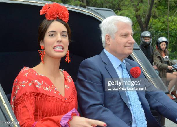 Duke of Alba Carlos Fitz James Stuart Solis and Sofia Palazuelo attend 2017 April's Fair on April 30 2017 in Seville Spain