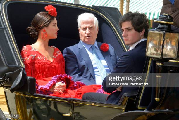 Duke of Alba Carlos Fitz James Stuart Solis Sofia Palazuelo and Fernando Fitz James Stuart Solis attend 2017 April's Fair on April 30 2017 in Seville...