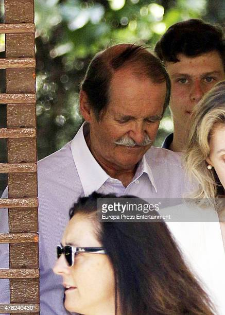 Duke of Braganza Dom Duarte Pio is seen leaving Princess Miriam de Ungria's home after having lunch the same day of the funeral of her husband Prince...
