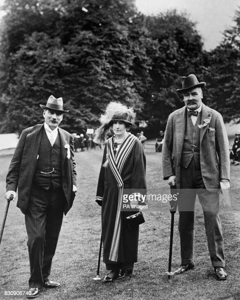 Duke of Buccleuch opening the Scottish YMCA National Services Fund Garden Fete in the grounds of Castle Milk Lockerbie The Duke of Buccleuch Lady...