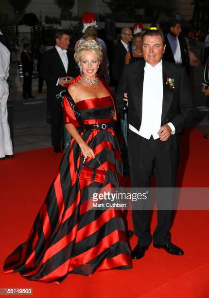 Duke Of Castro And Princess Camilla Duchess Of Castro Arriving For The Official Dinner For Prince Albert Ii Of Monaco And Charlene Wittstock At The...