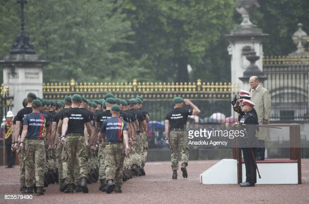Duke of Edinburgh Prince Philip attends his final public engagement Captain General's Parade to mark the finale of the 1664 Global Challenge at the...