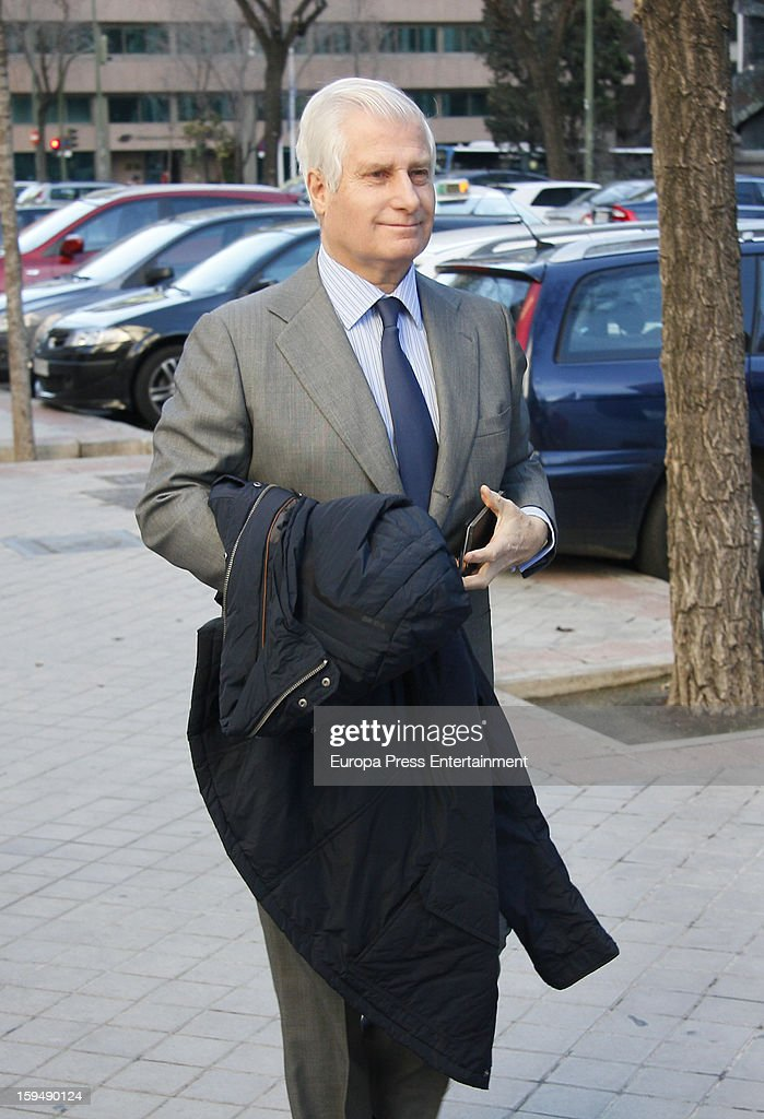 Duke of Huescar Carlos Fitz-James Stuart attends court on January 14, 2013 in Madrid, Spain. The bullfighter Francisco Rivera and ex wife Duchess of Montoro Eugenia Martinez de Irujo are fighting for the custody of their daughter.
