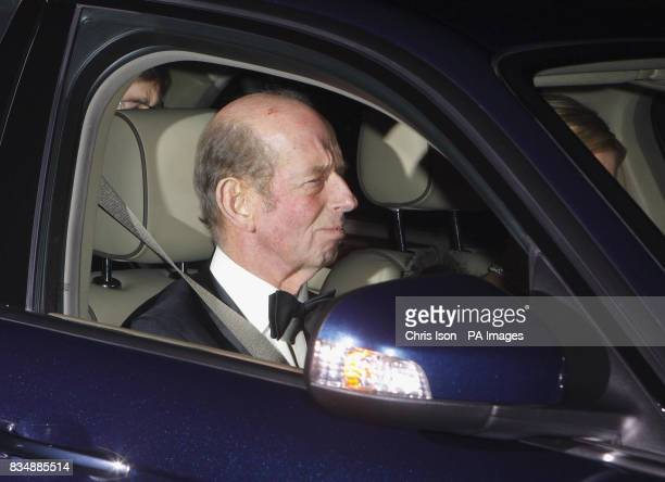 Duke of Kent arrives at Prince Charles's Highgrove home near Tetbury Gloucestershire where Prince Charles will be celebrating his 60th birthday with...