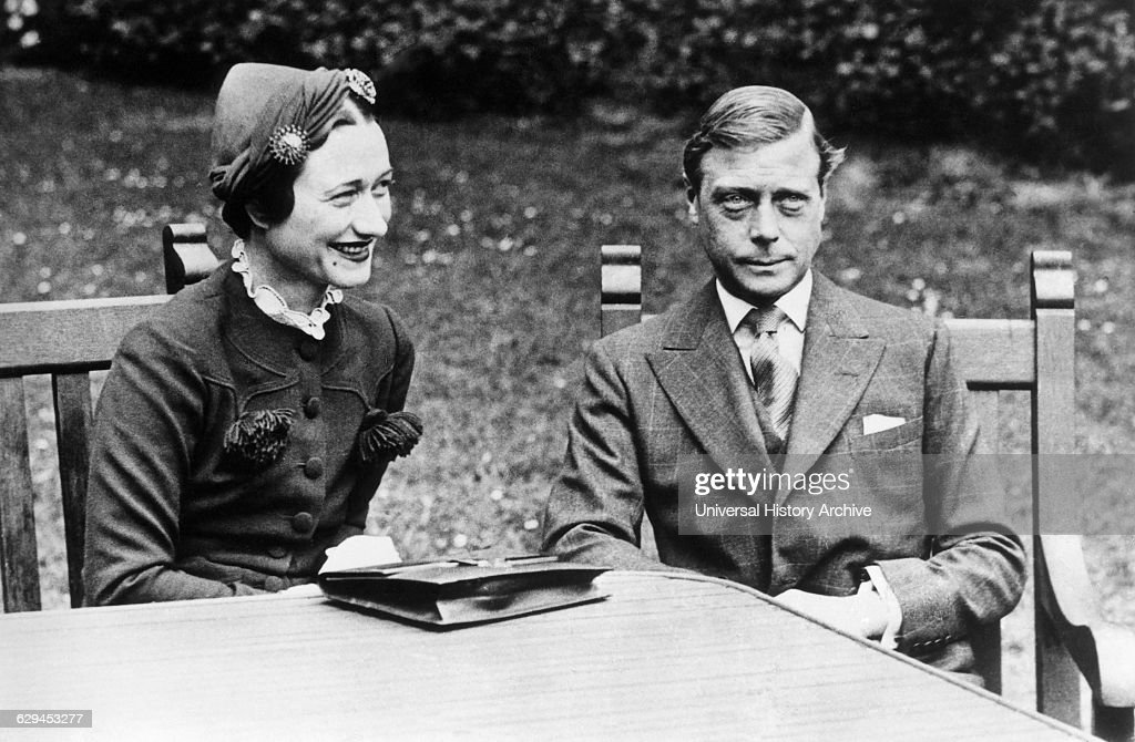 Duke of Windsor formerly King Edward VIII with Mrs Wallis Simpson Chateau de Cande near Tours France 1937