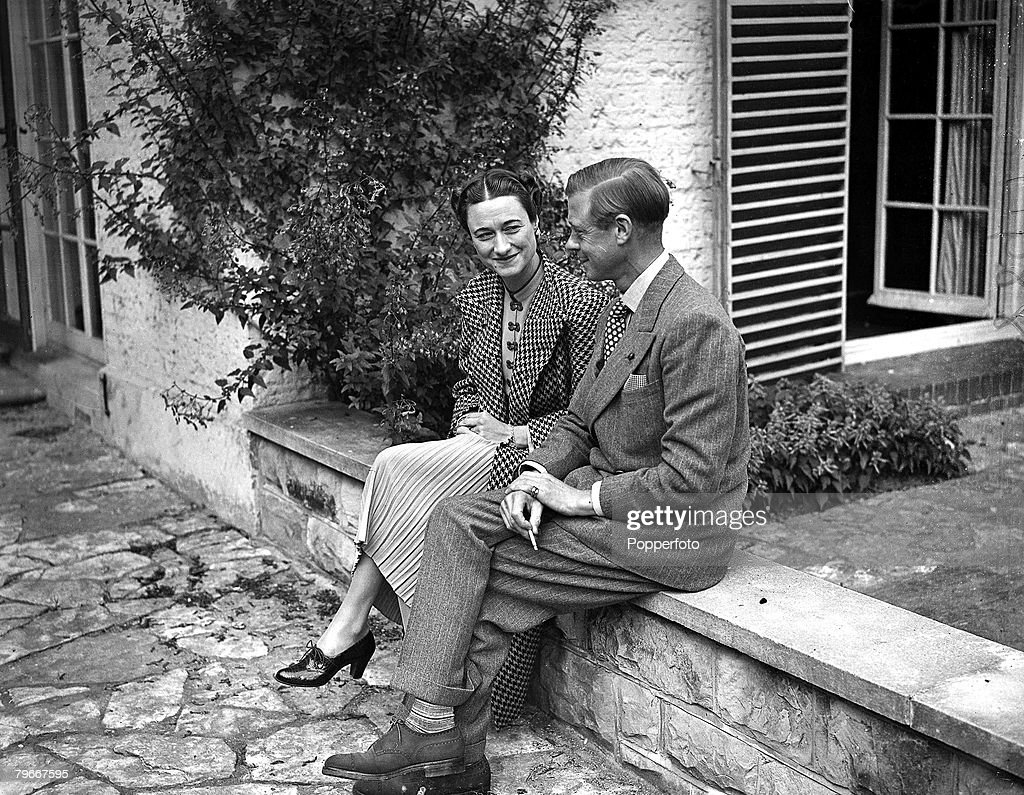 Duke of Windsor sitting with his wife the Duchess of Windsor 12th September 1939 He succeeded his father but abdicated on account of general...