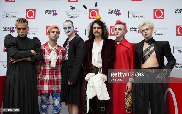 Duke Peterman Nico Henry Spychalski James and Zack of HMLTD attend the Q Awards 2017 in association with Absolute Radio at The Roundhouse on October...