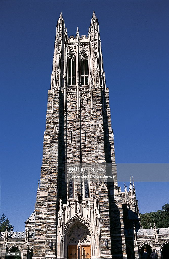 Duke University Chapel built in the 1930s with Hillsborough Bluestone from a local quarry Durham North Carolina
