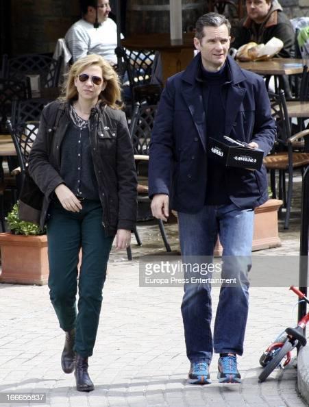 Dukes of Palma Princess Cristina of Spain and Inaki Urdangarin are seen on March 25 2013 in Barcelona Spain