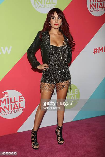 Dulce María attends the MTV Millennial Awards 2014 red carpet at Pepsi Center WTC on August 12 2014 in Mexico City Mexico
